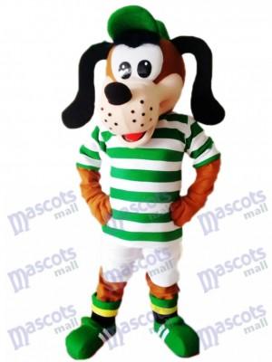 Perro en camisa de rayas verdes y blancas Disfraz de mascota Animal