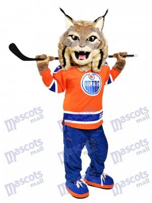 Cazador el Lince canadiense Engrasadores de Edmonton Disfraz de mascota animal