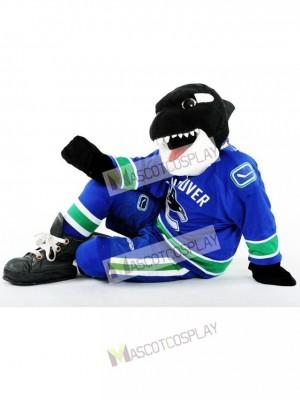 Aleta la ballena de Vancouver Canucks Orca Disfraz de mascota animal