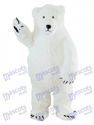 Oso Polar Blanco Ojos Pequeños Disfraz de mascota animal