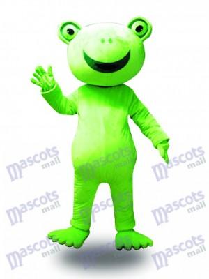 Rana verde de gran sonrisa Disfraz de mascota animal