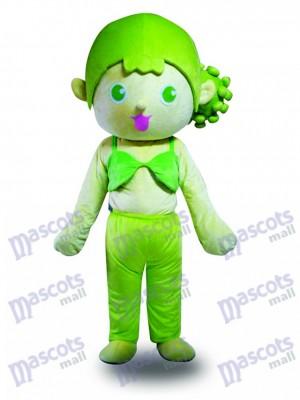 Chica de pelo verde Disfraz de mascota