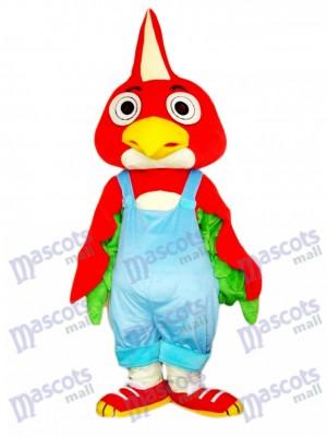 Pájaro loro rojo Disfraz de mascota animal
