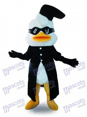 Traje negro pato blanco Disfraz de mascota animal