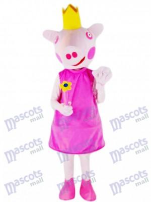 Princesa Cerdo Rosa Disfraz de mascota animal