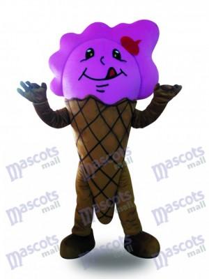 Cono de helado morado Disfraz de mascota Postre