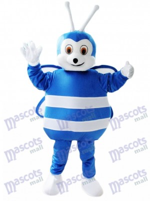 Abeja azul y blanca Disfraz de mascota Insecto