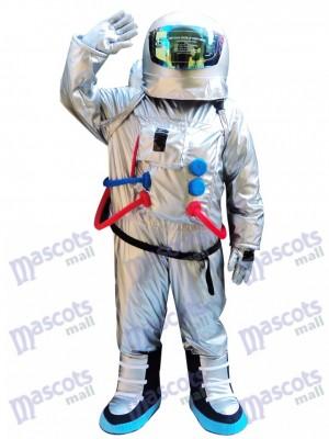 Astronauta de plata Traje espacial con mochila Disfraz de mascota