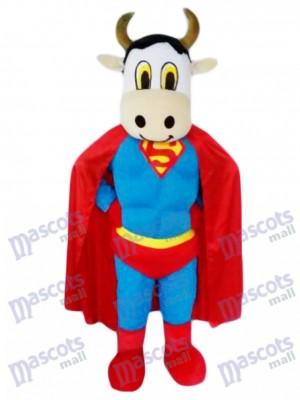 Ganado de super vaca con capa de Superman Disfraz de mascota animal