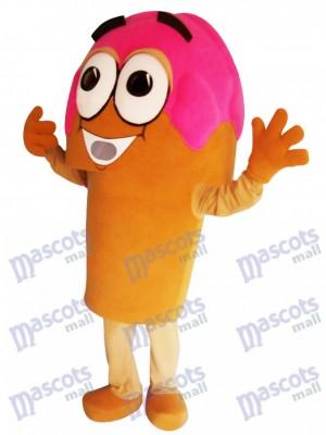Cono de helado rosado delicioso Disfraz de mascota