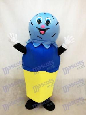 Helado azul Disfraz de mascota Dibujos animados