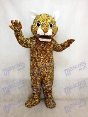 Saltando leopardo con nariz marrón Disfraz de mascota