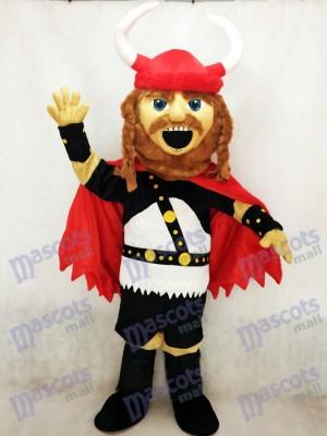 Vikingo pirata rojo Disfraz de mascota personas