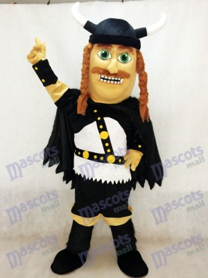 Vikingo con sombrero negro Disfraz de mascota personas
