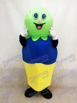 Helado verde Disfraz de mascota Dibujos animados