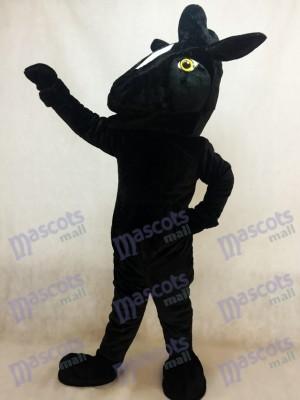 Caballo mustang negro Disfraz de mascota animal