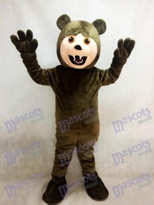 Oso Grizzly Marrón Oscuro Disfraz de mascota