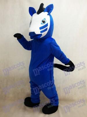 Caballo de Troya azul real Disfraz de mascota animal