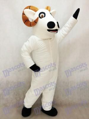 Carnero blanco adulto Disfraz de mascota