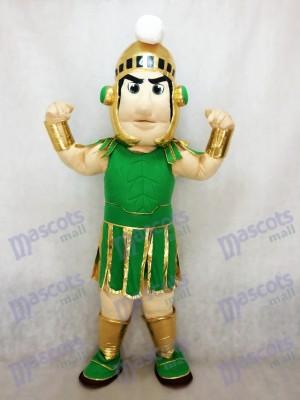 Espartano Titán Verde y Dorado Disfraz de mascota