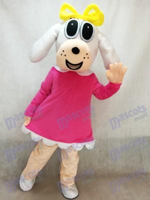 Perra en vestido fucsia Disfraz de mascota