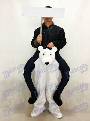 Oso polar a cuestas Carry Me Disfraz de mascota