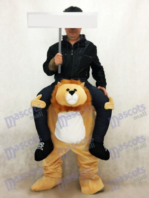 León a cuestas Carry Me Ride on Disfraz de mascota