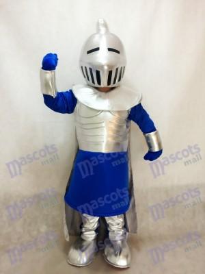 Caballero plateado en azul Disfraz de mascota personas