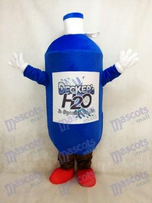 Botella de agua azul oscuro Disfraz de mascota