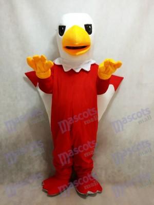 Cabeza blanca de grifo rojo Disfraz de mascota