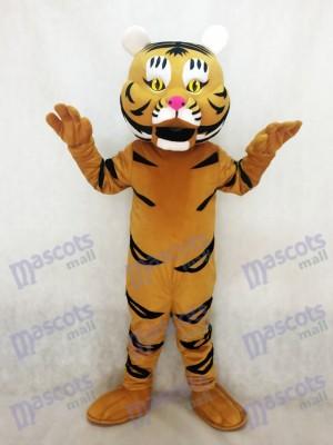 Tigre amarillo anaranjado Disfraz de mascota