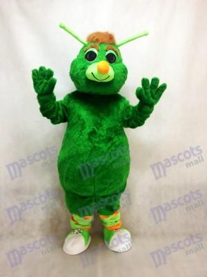 Saltamontes verde divertido Disfraz de mascota