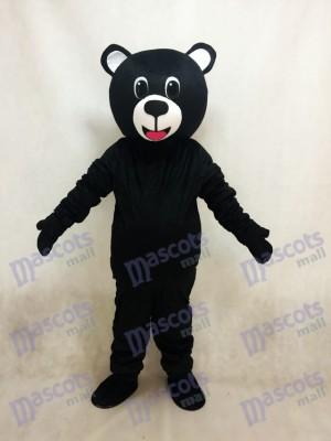 Oso de la suerte negro Disfraz de mascota