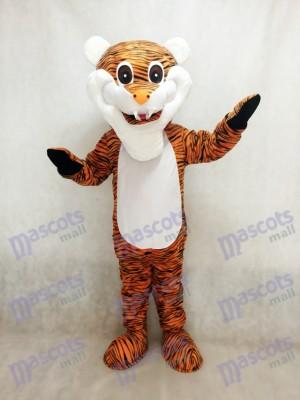 Tigre de rayas marrón rojizo Disfraz de mascota animal
