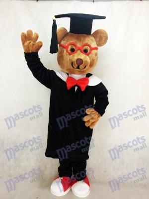 Oso Bernard con gafas de montura roja Disfraz de mascota animal