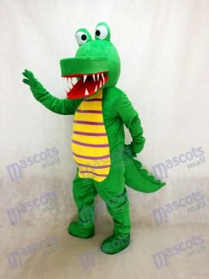Cocodrilo verde cómico Disfraz de mascota animal