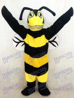 Abeja avispón negro y amarillo Disfraz de mascota