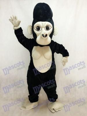 Gorila espalda plateada negra Disfraz de mascota animal