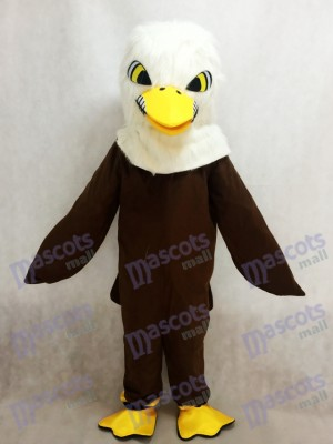 Águila de plumas marrón oscuro Disfraz de mascota