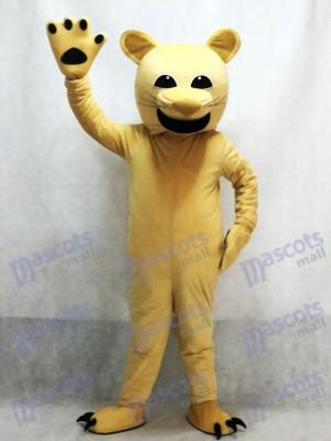 Cómico bronceado puma Disfraz de mascota animal