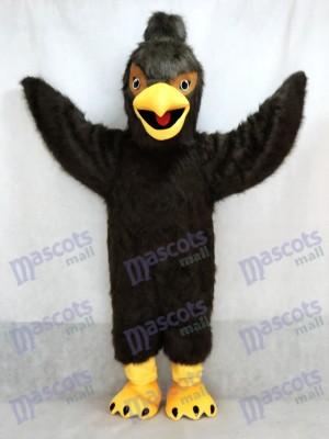 Águila halcón emplumada marrón oscuro Disfraz de mascota animal