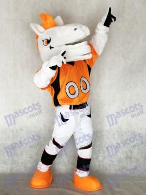 Caballo mustang Broncos con melena naranja Disfraz de mascota animal