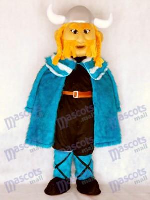 Thor el vikingo gigante con capa azul Disfraz de mascota