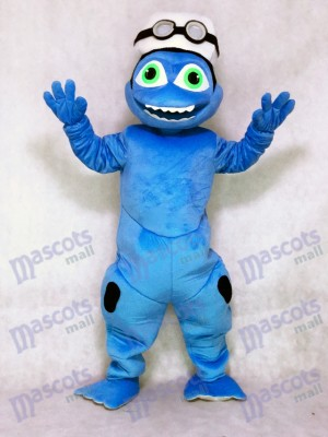 Rana azul loca Disfraz de mascota animal