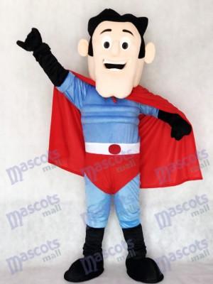 Nuevo superhéroe con capa roja Disfraz de mascota personas