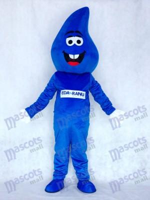 Gota De Agua Azul Lluvia Disfraz de mascota Dibujos animados
