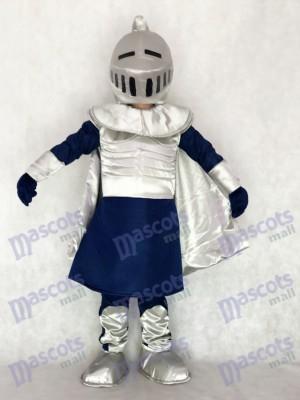 Caballero plateado con casco Disfraz de mascota Personas