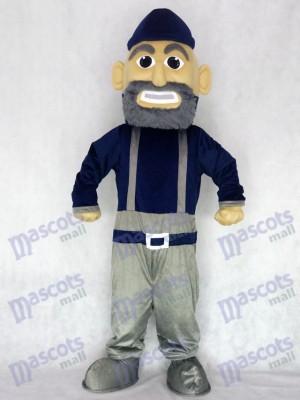 Marinero azul marino y gris Disfraz de mascota Personas