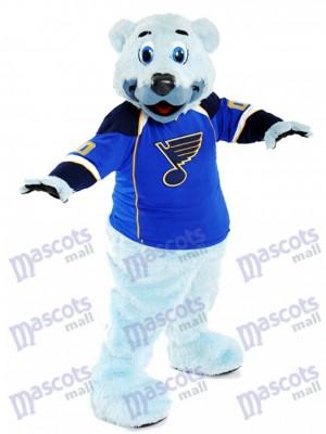 Louie Oso polar de pelo azul del St. Louis Blues Disfraz de mascota