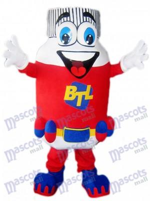 Frasco de pastillas rojo BTL Disfraz de mascota Dibujos animados